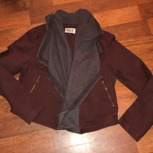BKE moto jacket with flows collar